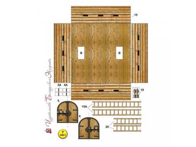Град славян (модель из бумаги, развивающая игра-конструктор, 4 вида:храмы и монастыри) (фото, вид 2)