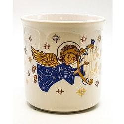 """Кружка """"Детская малая"""", деколь, золото, """"Ангел с младенцем"""". Вид 2"""