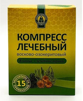 Компресс лечебный восково-озокеритовый «Живица+лечебные травы» 100г.
