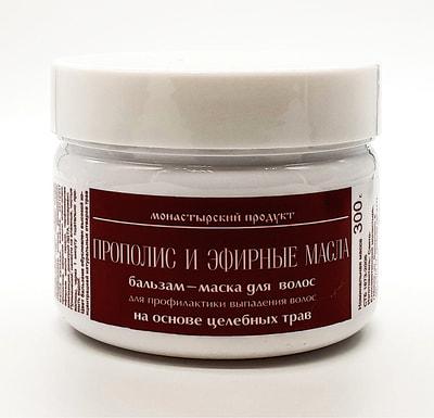 Бальзам-маска для волос Прополис и эфирные масла. Для профилактики выпадения волос на основе целебных трав. 300 г.