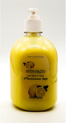 Крем-мыло для рук и тела Лимонный Безе. 550 гр.