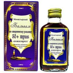 """Бальзам """"Монастырский"""" по старинному рецепту 50+ трав """"Антистресс"""" 100 мл."""